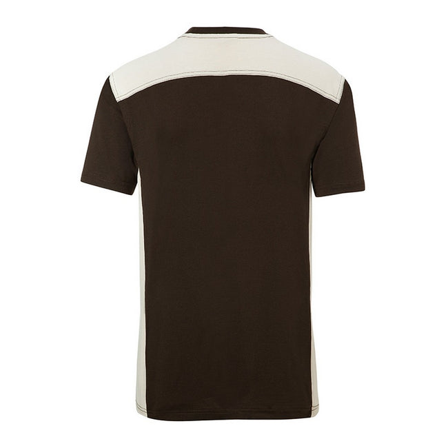 Brown-Stone - Back - James and Nicholson Mens Workwear 2 Level T-Shirt
