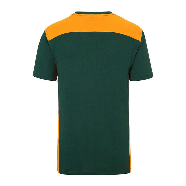 Dark Green-Orange - Back - James and Nicholson Mens Workwear 2 Level T-Shirt