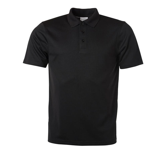 Black - Front - James and Nicholson Mens Active Polo