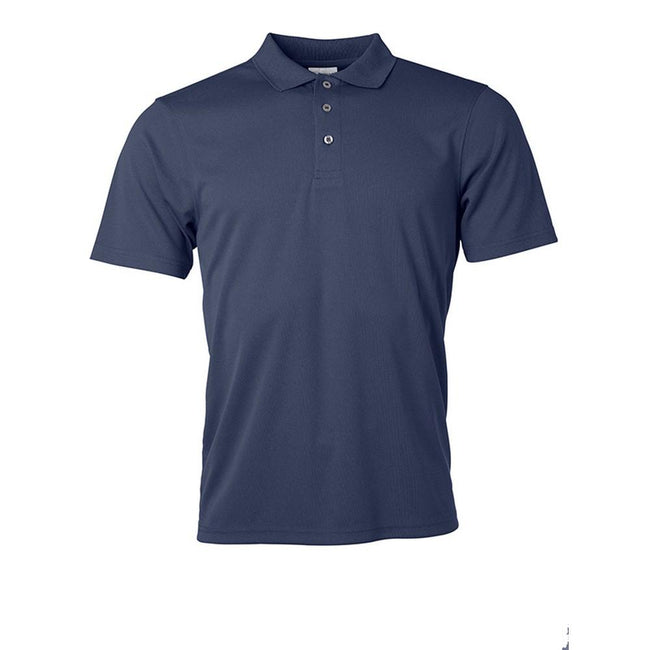 Navy - Front - James and Nicholson Mens Active Polo