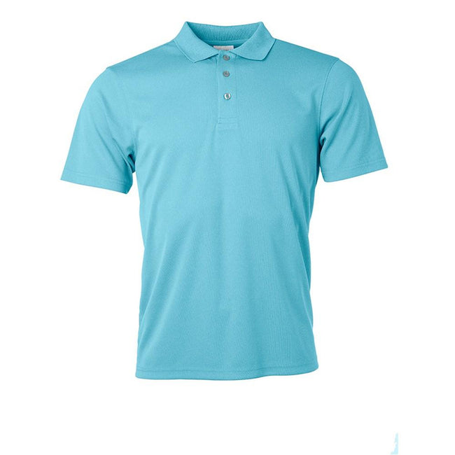 Pacific Blue - Front - James and Nicholson Mens Active Polo