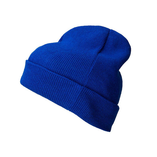 Royal Blue - Front - Myrtle Beach Adults Unisex Knitted Promotion Beanie