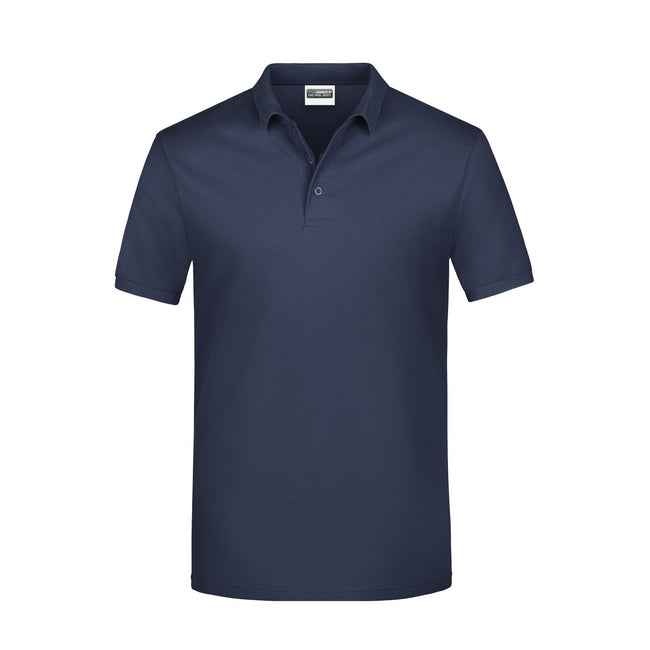 Navy - Front - James And Nicholson Mens Basic Polo Shirt