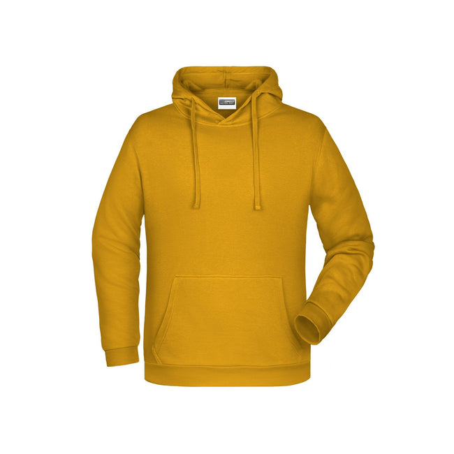 Gold Yellow - Front - James And Nicholson Mens Basic Hoodie
