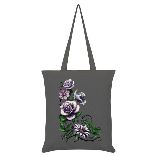 Gray - Front - Requiem Collective Pastel Efflorescence Tote Bag