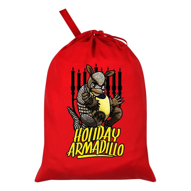Red - Front - Grindstore The Holiday Armadillo Santa Sack