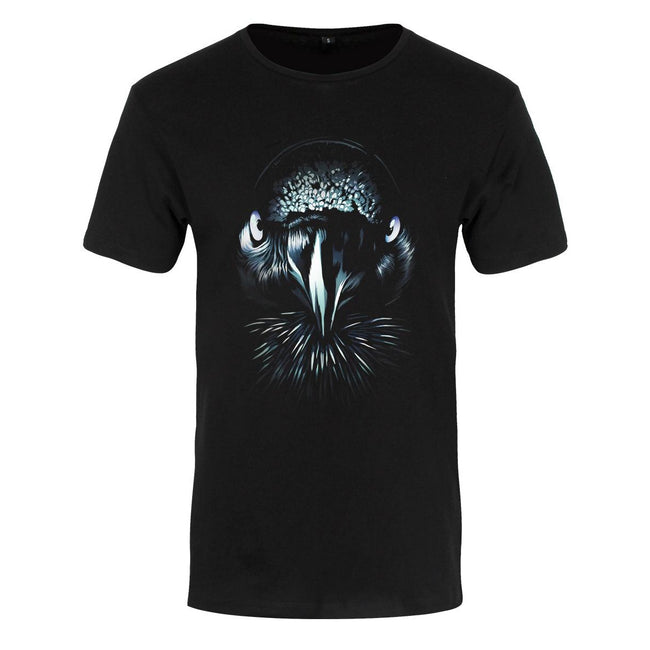 Black - Front - Unorthodox Collective Mens Raven Premium T-Shirt