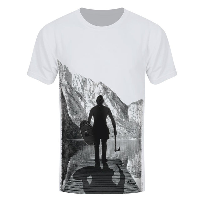 Black-White - Front - Grindstore Viking Warrior Men´s Sub T-Shirt