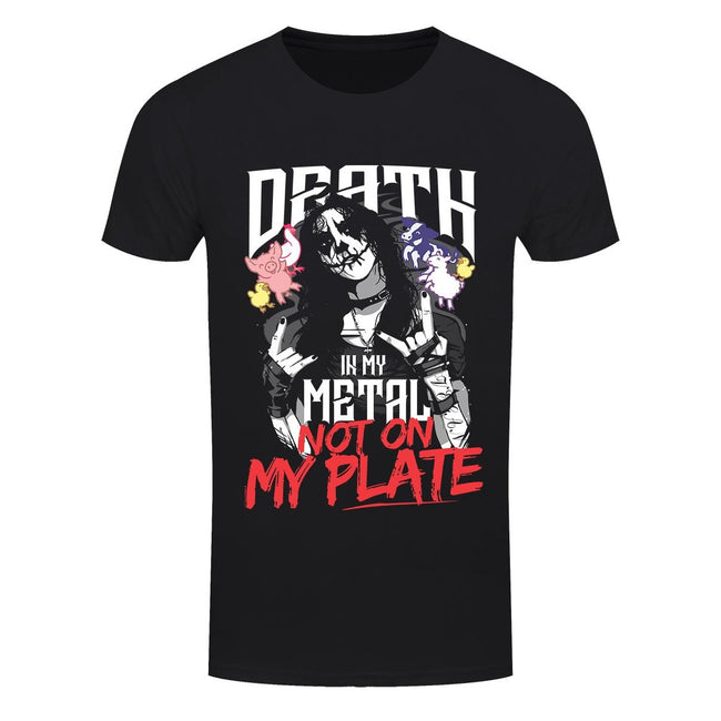 Black - Front - Grindstore Mens Death In My Metal Not On My Plate T-Shirt