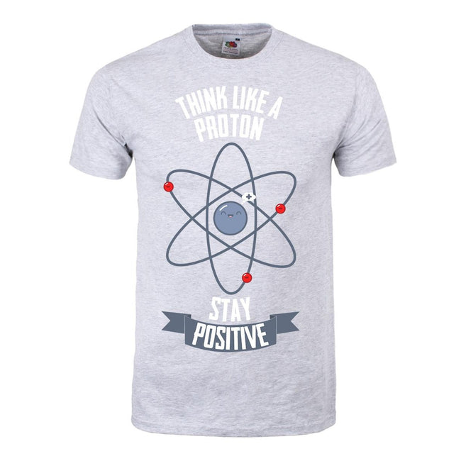 Grey - Front - Grindstore Mens Think Like A Proton T-Shirt