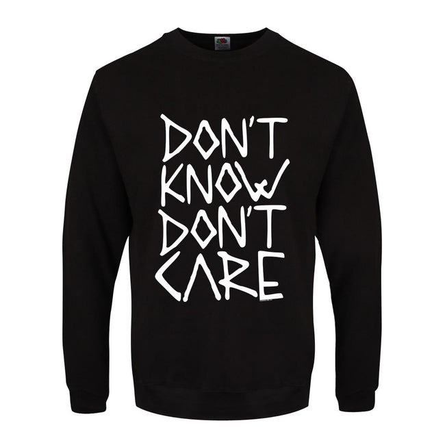 Black - Front - Grindstore Mens Don`t Know Don`t Care Sweater