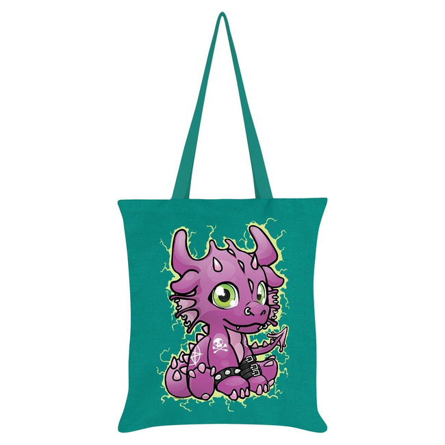 Emerald Green - Front - Grindstore Bazzalth The Baby Dragon Tote Bag