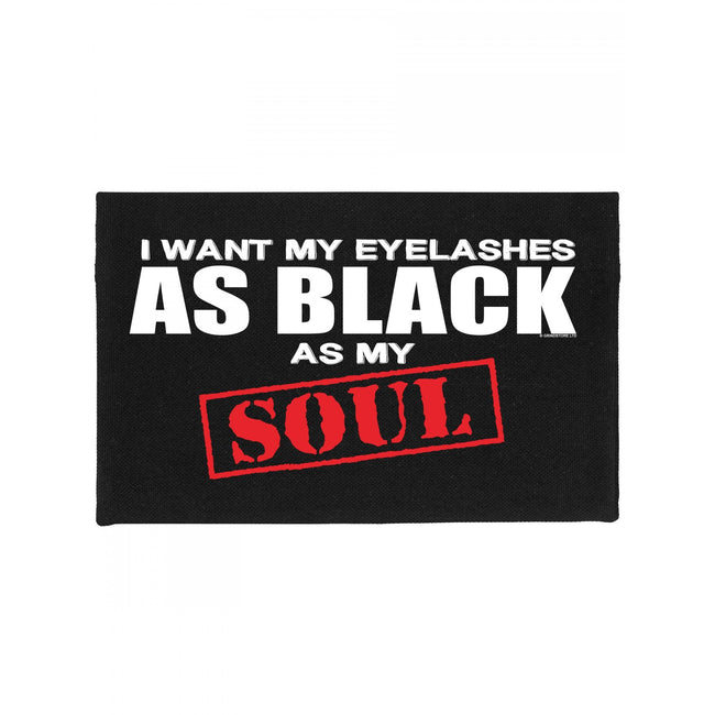 Black - Front - Grindstore Eyelashes As Black As My Soul Make Up Bag