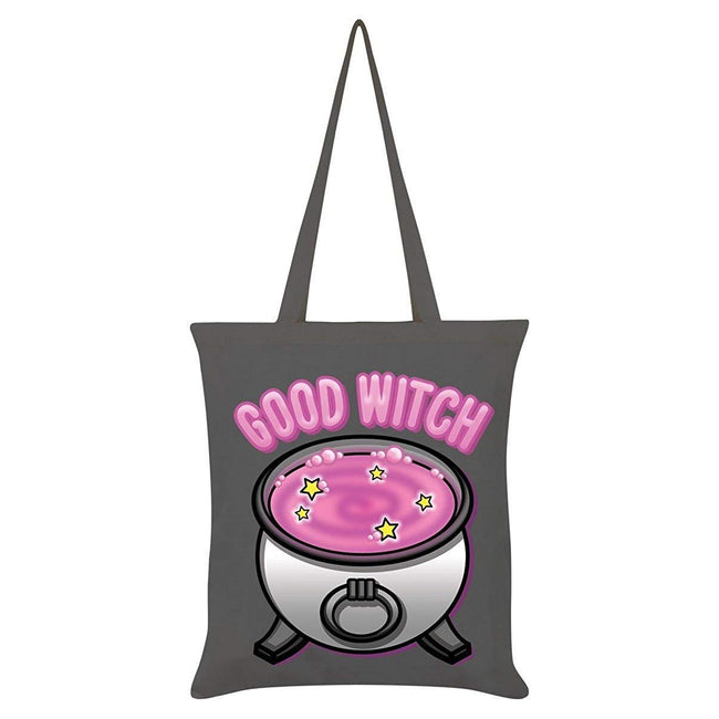 Gray - Front - Grindstore Good Witch Bad Witch Double Sided Tote Bag