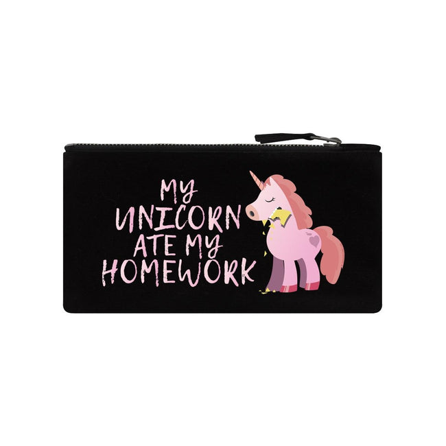 Black - Front - Grindstore My Unicorn Ate My Homework Pencil Case