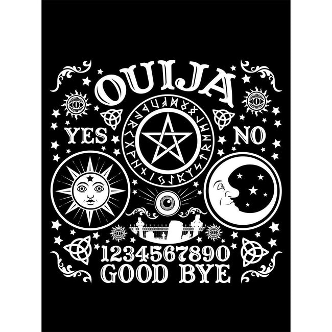 Black - Side - Grindstore Ouija Board Tote Bag