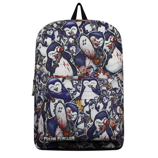 Multicoloured - Front - Psycho Penguin Crazy Collage Backpack