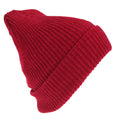 Red - Back - HeatGuard Womens-Ladies Chenille Winter Beanie Hat