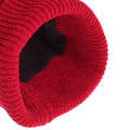 Red - Lifestyle - HeatGuard Womens-Ladies Chenille Winter Beanie Hat