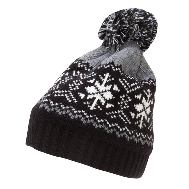 Gray - Front - Rock Jock Womens-Ladies Fairisle Ski Hat