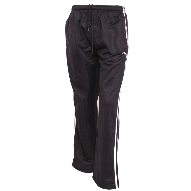 Black - Front - Mens Jogging Bottoms (Open Cuff)