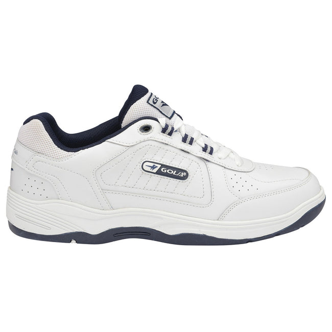 Black - Side - Gola Mens Belmont WF Wide Fit Sneakers-Trainers