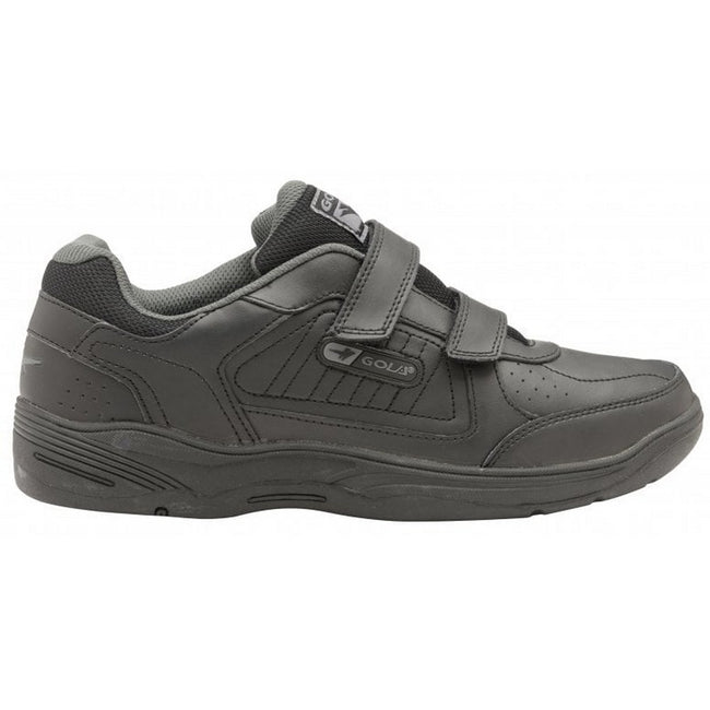 Black-Black - Back - Gola Sport Childrens Boys Belmont Touch Fastening Trainers