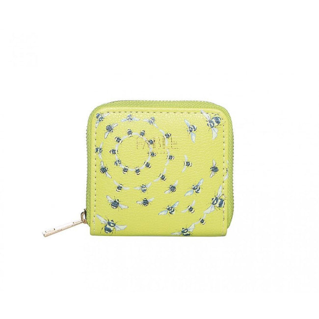 Green - Front - Fable Womens-Ladies Vintage Bee Print Small Wallet