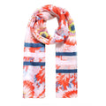 Red - Front - Jewelcity Womens-ladies Morning Glory Sunflower Print Scarf