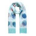 Turquoise - Front - Jewelcity Womens-Ladies Abstract Spot And Hearts Scarf