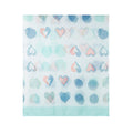 Turquoise - Back - Jewelcity Womens-Ladies Abstract Spot And Hearts Scarf