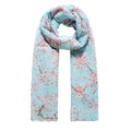 Blue - Front - Jewelcity Womens-Ladies Cherry Blossom Print Scarf