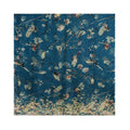 Teal - Back - Jewelcity Womens-Ladies Bird And Blossom Print Scarf