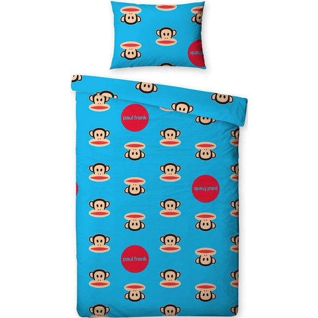 Blue - Front - Childrens-Kids Paul Frank Spots Single-Twin Duvet Cover and Pillowcase