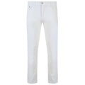 White - Front - Kam Jeanswear Mens Alba Slim Fit Chino Jeans