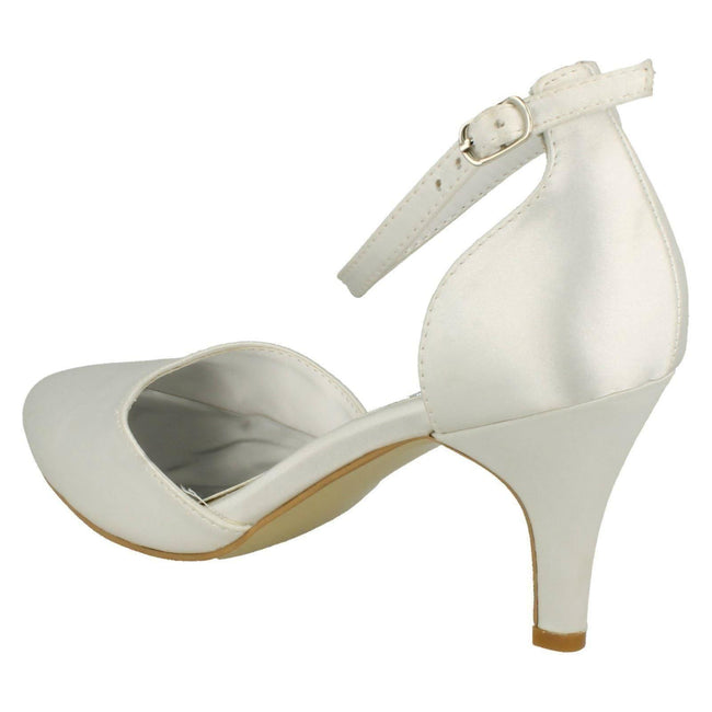 White Satin - Lifestyle - Anne Michelle Womens-Ladies Bridal Wedding Court Shoes