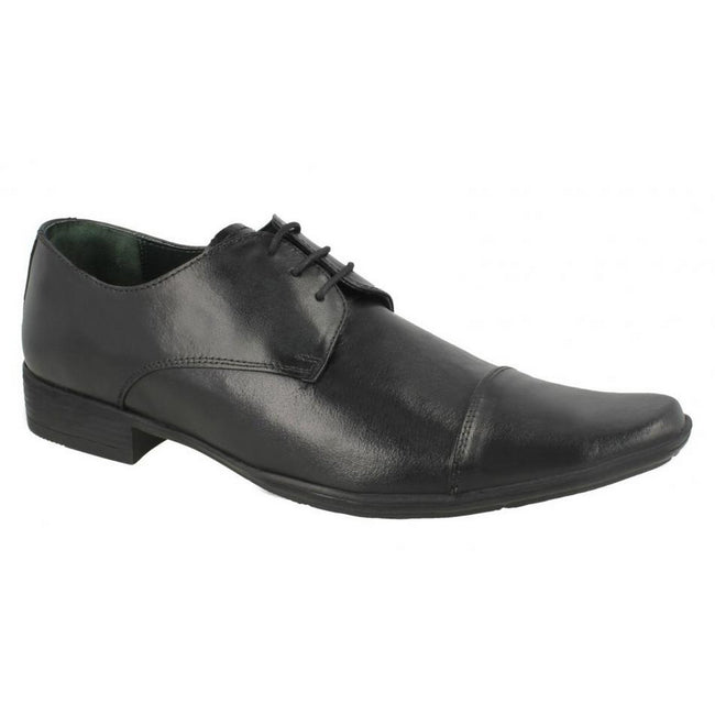 Black - Front - Mens Lambretta Floyd Smart Lace Up Shoes