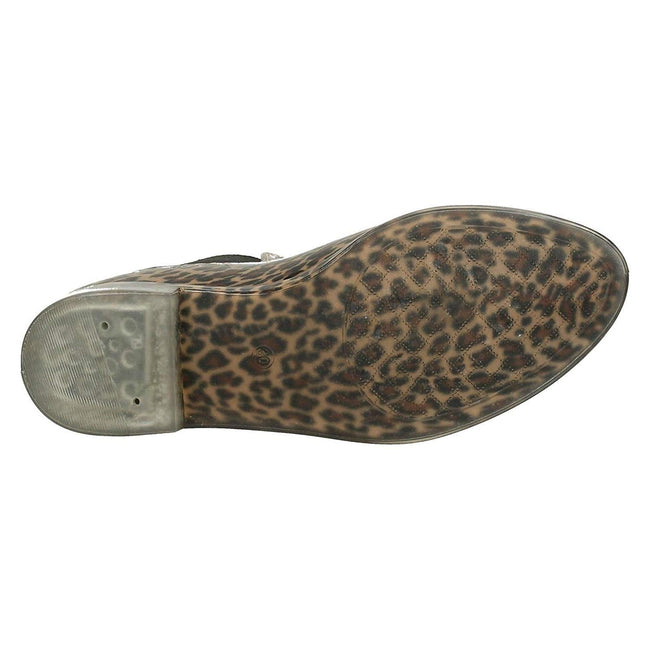 Leopard - Close up - Spot On Girls Ankle Wellington Boots