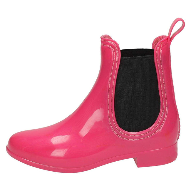Fuchsia - Lifestyle - Spot On Girls Ankle Wellington Boots
