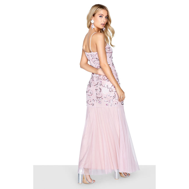 Pink - Lifestyle - Little Mistress Womens-Ladies Fishtail Strappy Maxi Dress