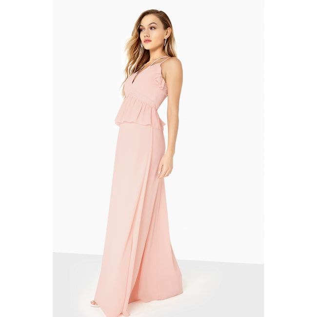 Nude - Lifestyle - Girls On Film Womens-Ladies Frill Front Strappy Maxi Dress