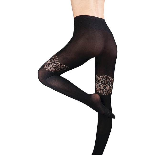 Barely Black - Elizabeth - Front - Couture Womens-Ladies Ultimates Tights (1 Pair)