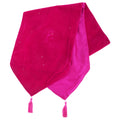 Cerise - Front - Panache Electra Sequin Table Runner With Tassels