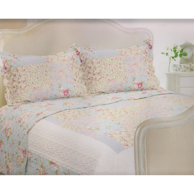 Utah - Front - E Of W Utah Quilted Floral Bedspread With Pillowshams Bedding Set