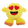 Heart Eyes Face - Front - Smiley Emoji Design Filled Plush Cushion With Legs (10 Designs)