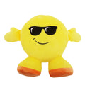 Sunglasses Face - Front - Smiley Emoji Design Filled Plush Cushion With Legs (10 Designs)