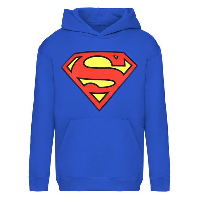 Blue - Front - Superman Mens Shield Logo Hoodie