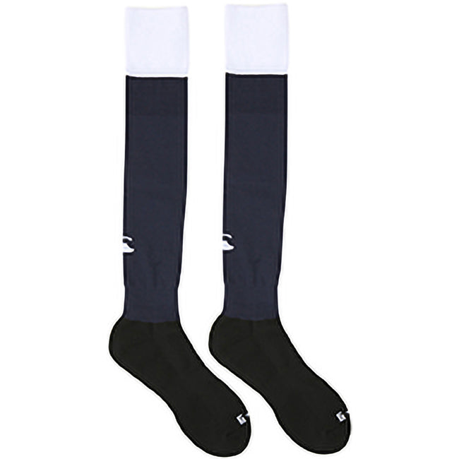 Navy-White - Back - Canterbury Mens Playing Cap Rugby Sport Socks