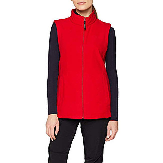 Classic Red - Lifestyle - Regatta Womens-Ladies Micro Fleece Bodywarmer - Gilet