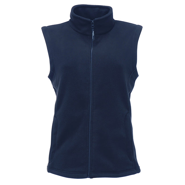 Dark Navy - Front - Regatta Womens-Ladies Micro Fleece Bodywarmer - Gilet